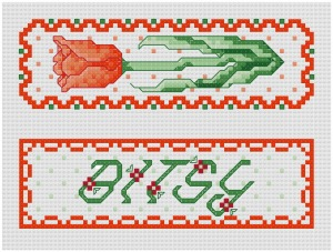 Go to Garden Treasures - Tulip Bookmark pattern page