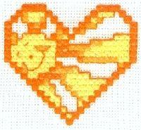 Cross Stitch Smiling Sun