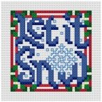 Go to Let It Snow cross stitch pattern page