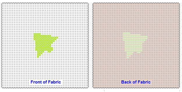 Front and Back first Cross Stitch side